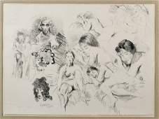 Three Lithographs By Raphael Soyer