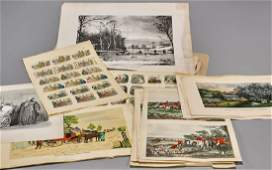 Collection of Old Engravings  Lithographs