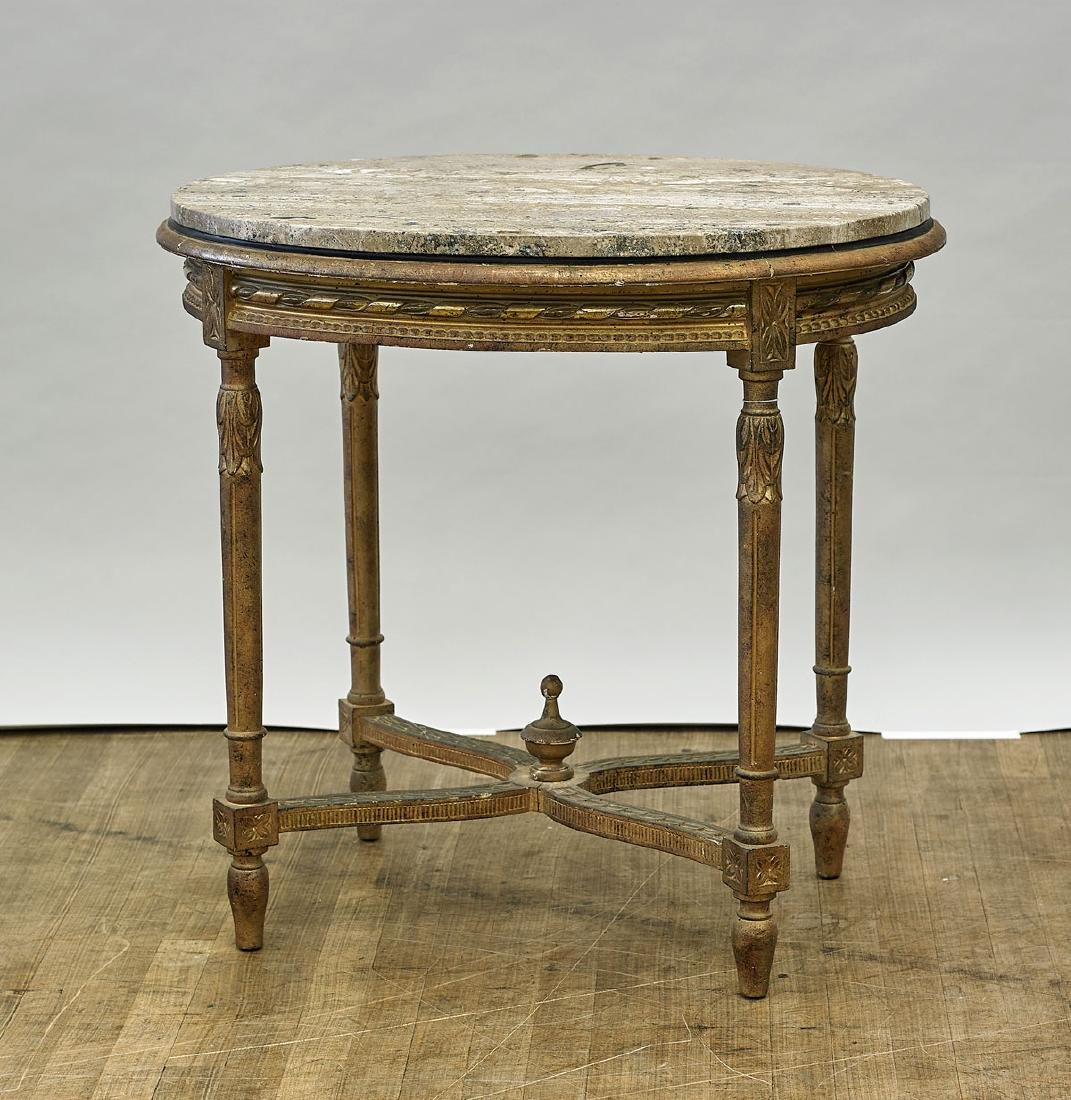 Antique Gilt Wood Table