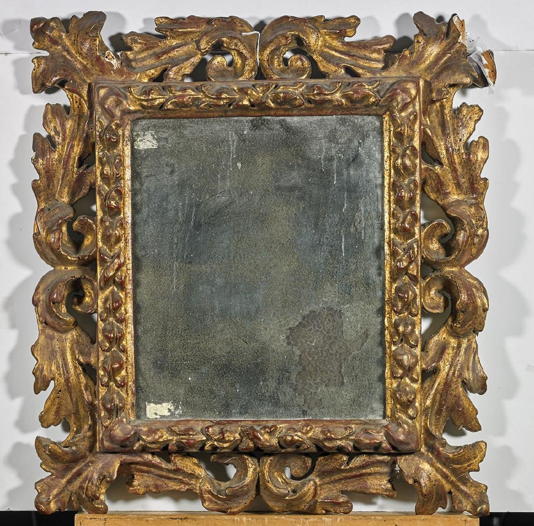 Antique Gilt Wood Mirror