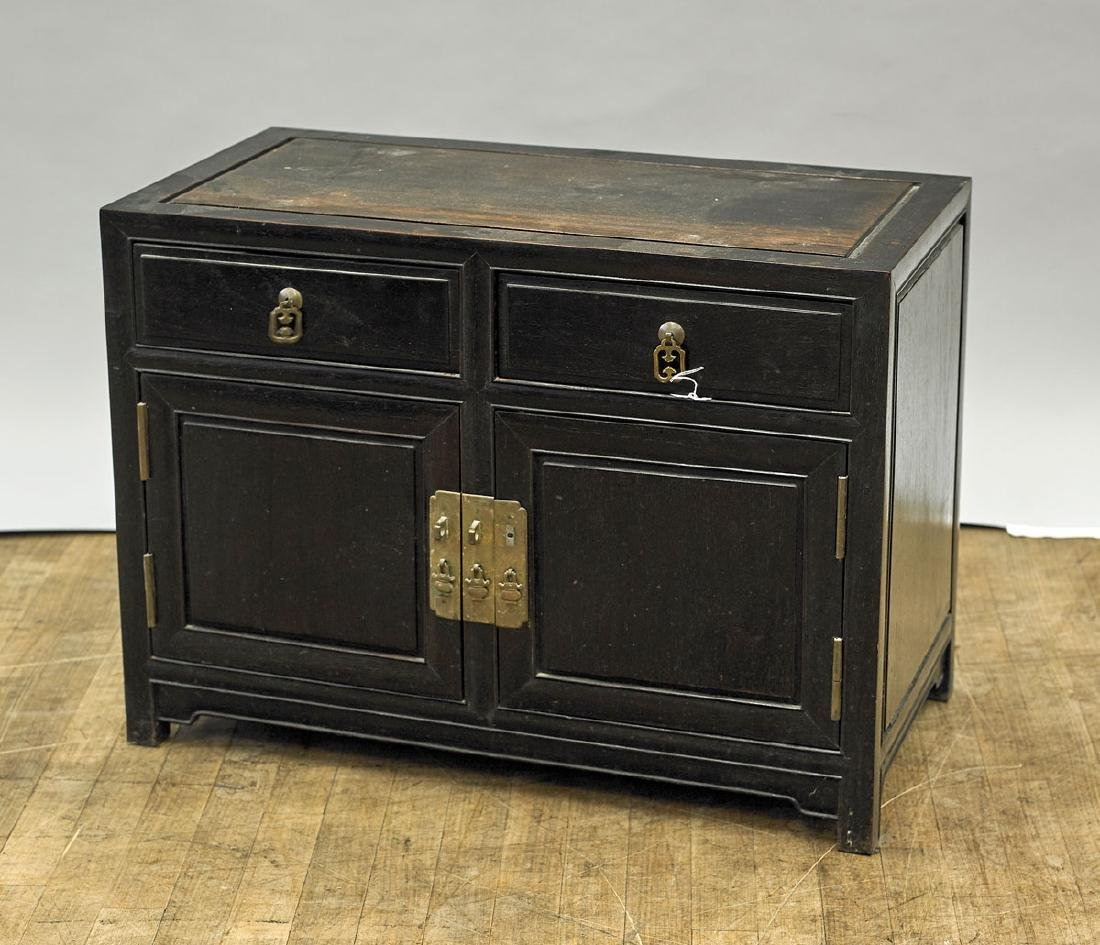 Low Chinese Wood Cabinet