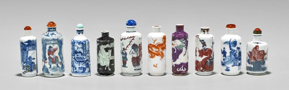 COLLECTION OF PORCELAIN SNUFF BOTTLES