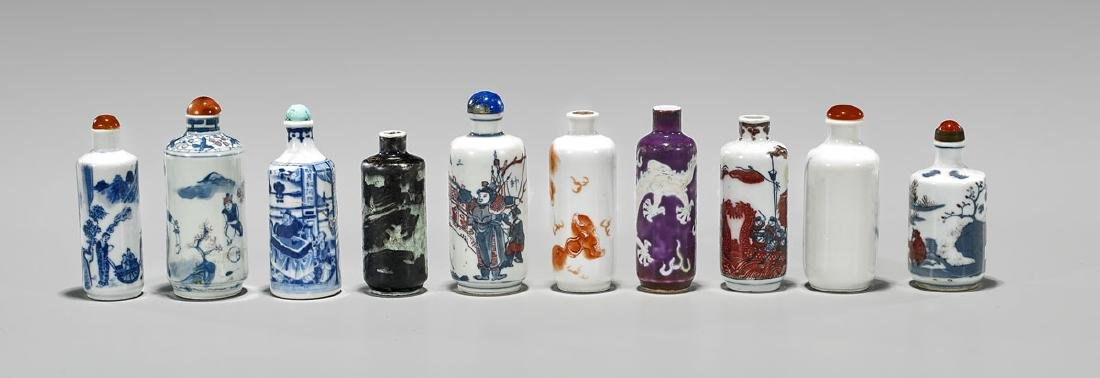 COLLECTION OF PORCELAIN SNUFF BOTTLES - 2