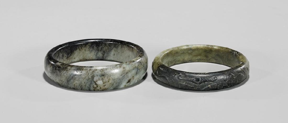 TWO MING DYNASTY JADE BANGLES - 2