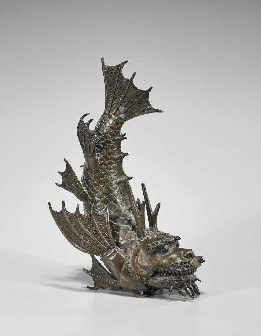 JAPANESE ARTICULATED BRONZE DRAGON FISH