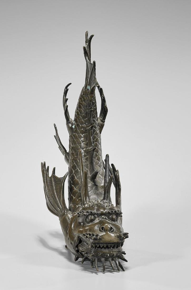 JAPANESE ARTICULATED BRONZE DRAGON FISH - 3