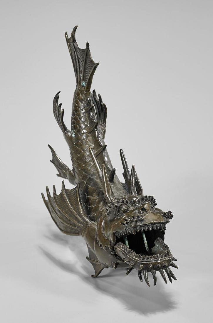 JAPANESE ARTICULATED BRONZE DRAGON FISH - 4