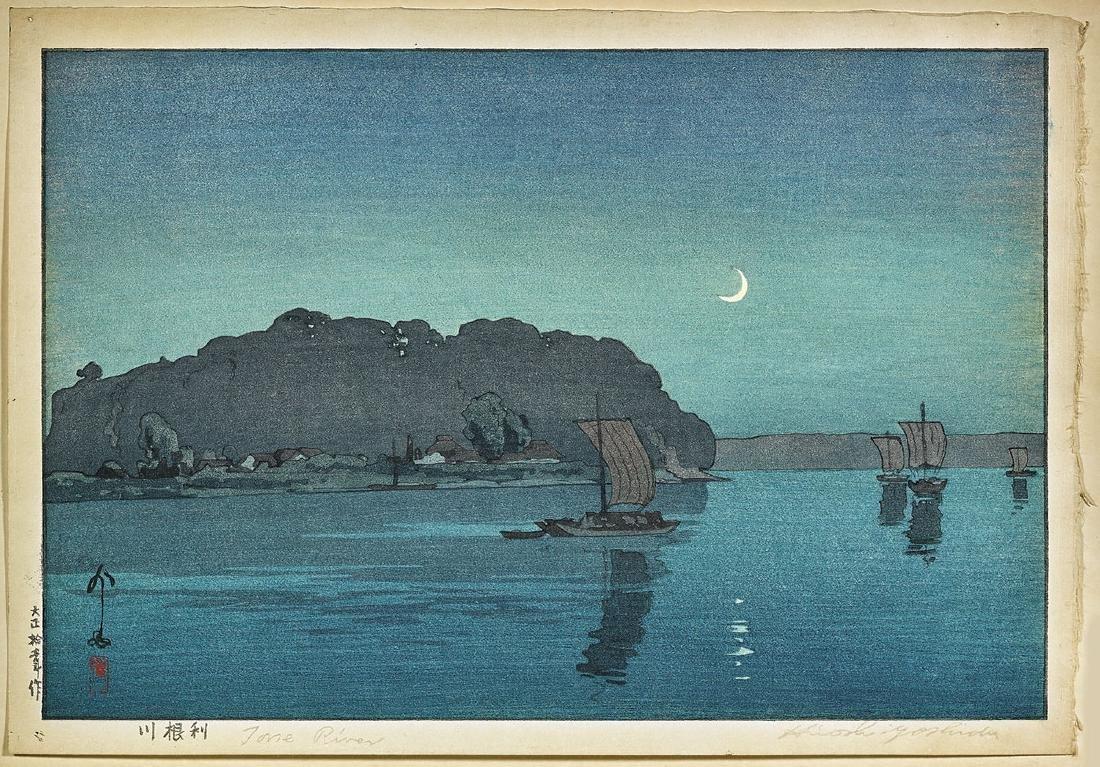 FOUR WOODBLOCK PRINTS AFTER HIROSHI YOSHIDA
