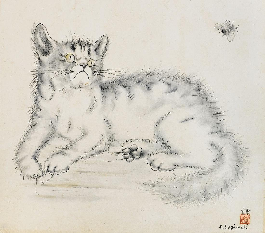WATERCOLOR BY HENRY SUGIMOTO: Cat