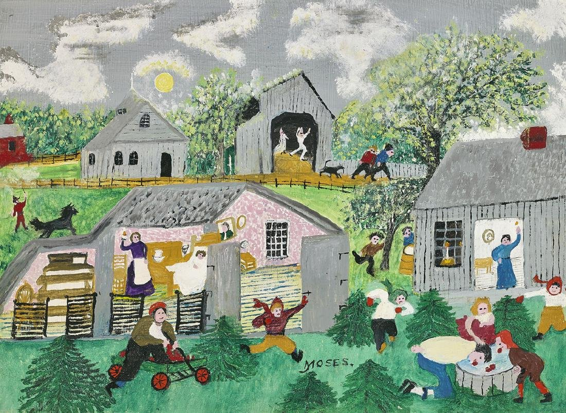PAINTING BY GRANDMA MOSES: Halloween