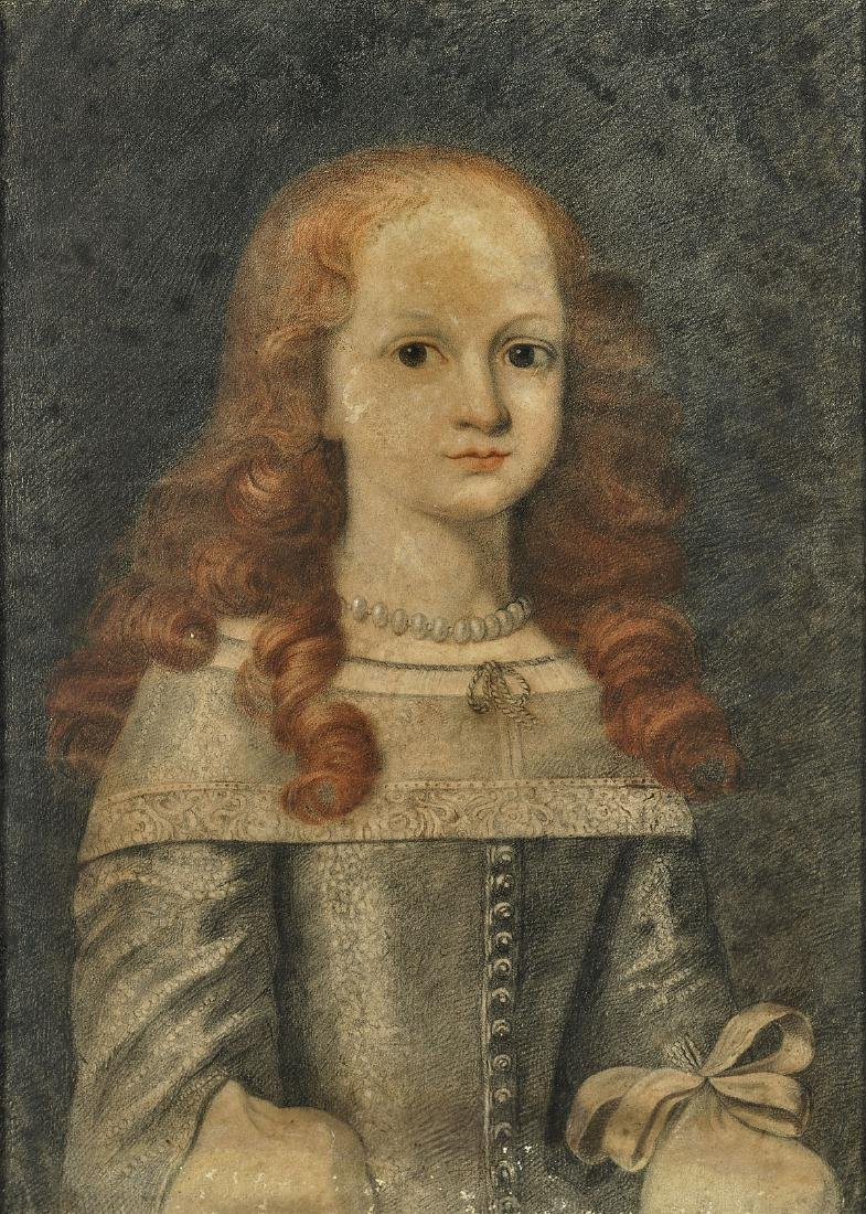 PASTEL PORTRAIT OF A GIRL: Follower of Pierre Mignard