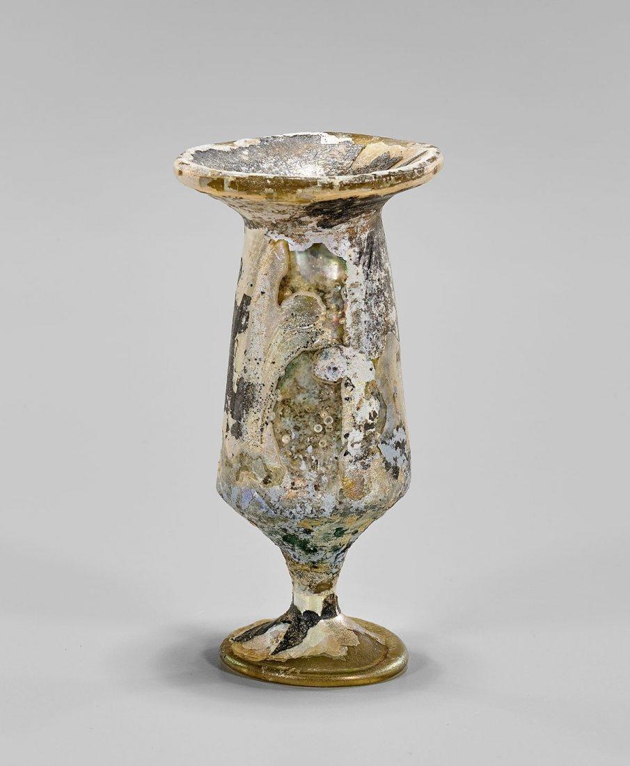 ROMAN GLASS STEM VESSEL - 2