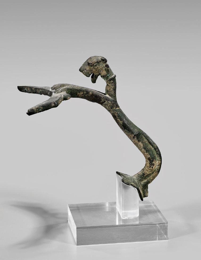 PARTHIAN BRONZE 'PANTHER' HANDLE