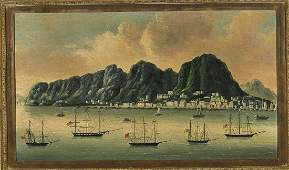 Chinese Trade Oil Painting on Canvas