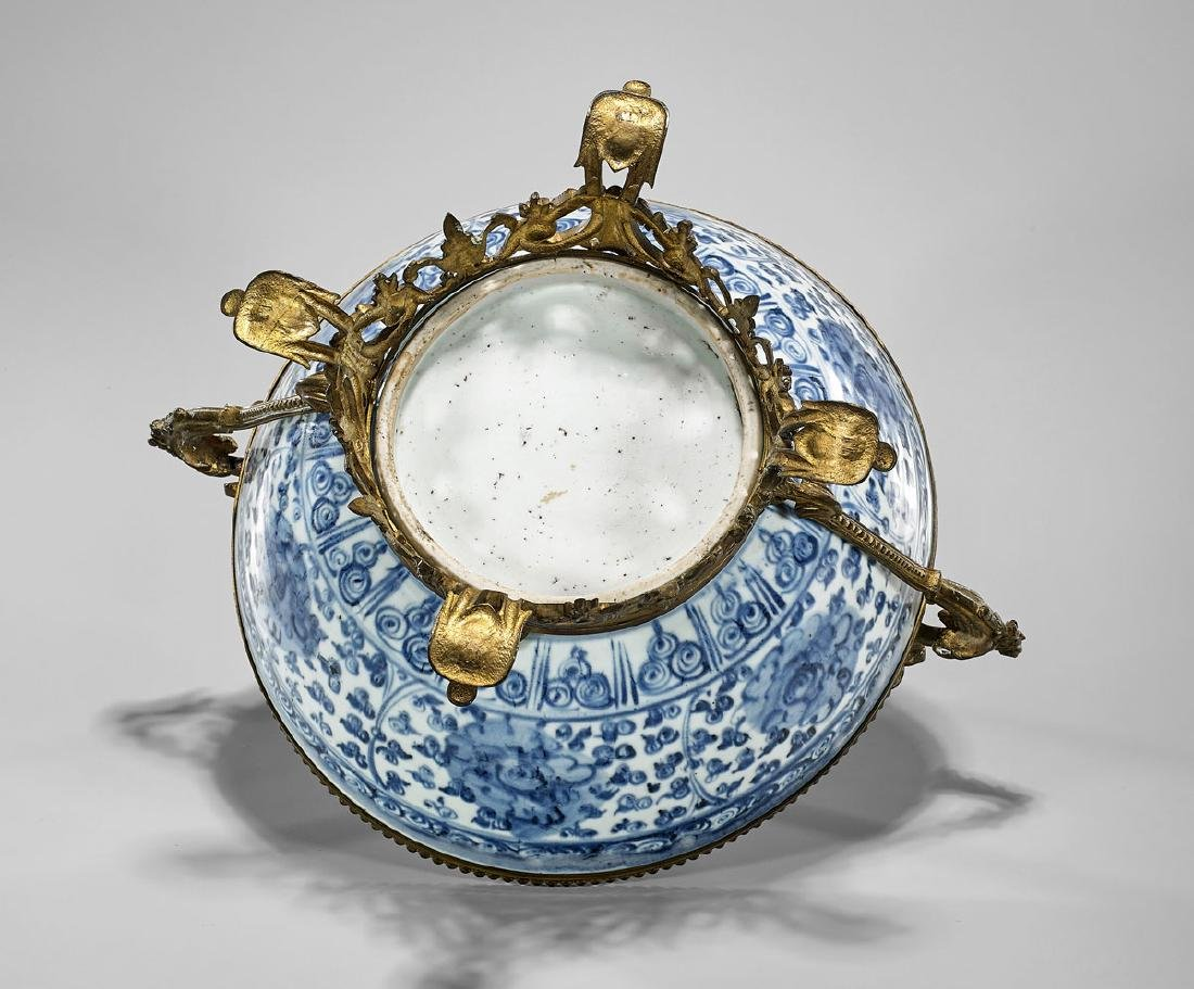 ORMOLU-MOUNTED MING DYNASTY PORCELAIN BOWL - 3