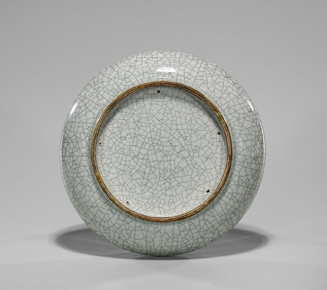 19TH CENTURY CRACKLE-GLAZED DISH - 3