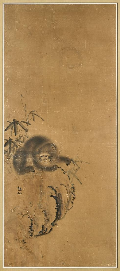 PAIR PAINTINGS ATTRIBUTED TO MORI SOSEN