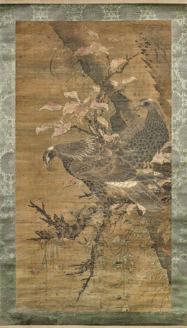 16TH CENTURY JAPANESE SILK SCROLL