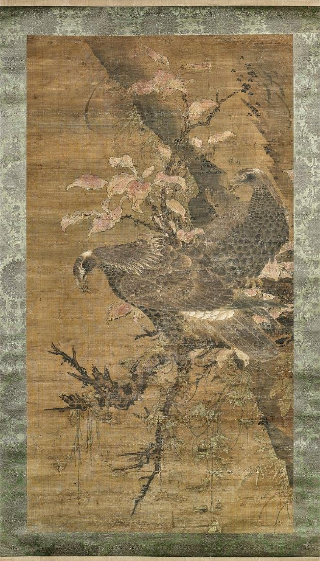 16TH CENTURY JAPANESE SILK SCROLL