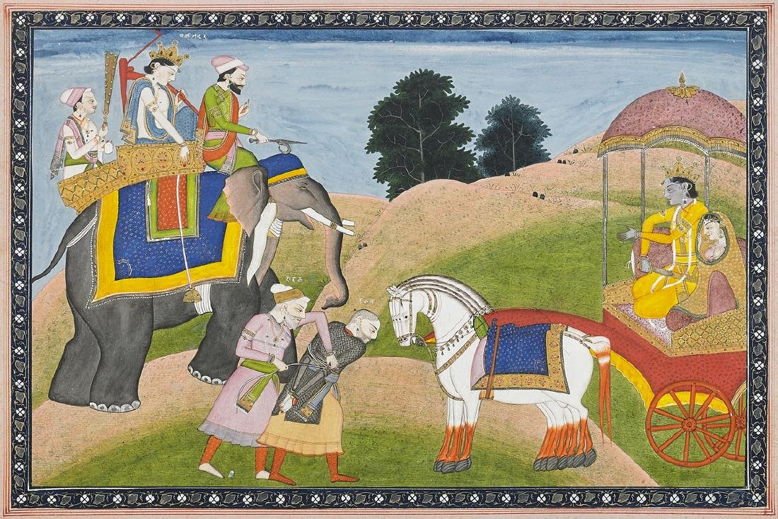 19TH CENTURY KANGRA SCHOOL PAINTING