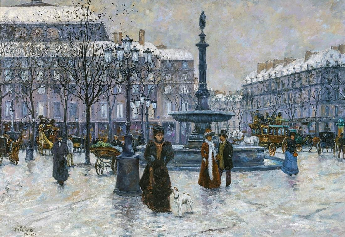 OIL PAINTING ON CANVAS: School of Paul Gustav Fischer