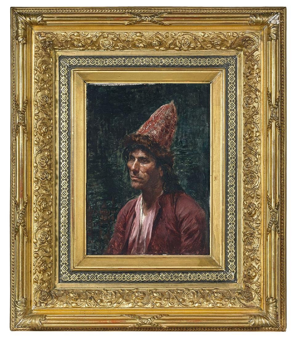 PORTRAIT ATTRIBUTED TO FREDERICK ARTHUR BRIDGMAN