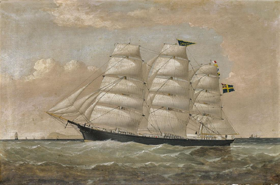 MARITIME PAINTING BY WILLIAM HOWARD YORKE