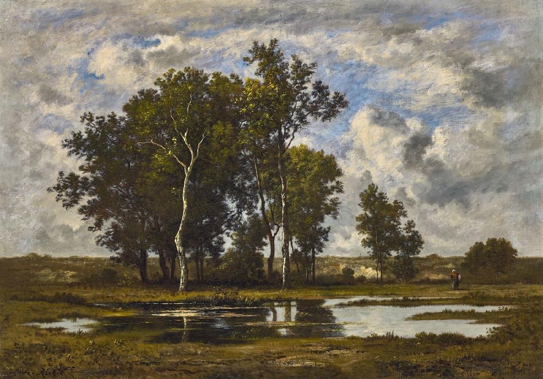 OIL PAINTING BY LEON RICHET: La Mare