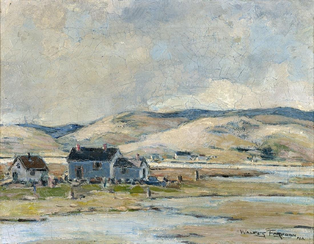 PAINTING BY WALTER FARNDON: Along the Maine Coast
