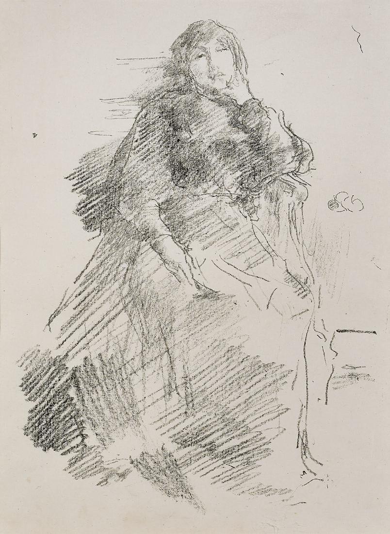 LITHOGRAPH BY JAMES WHISTLER: La Belle Dame Paresseuse