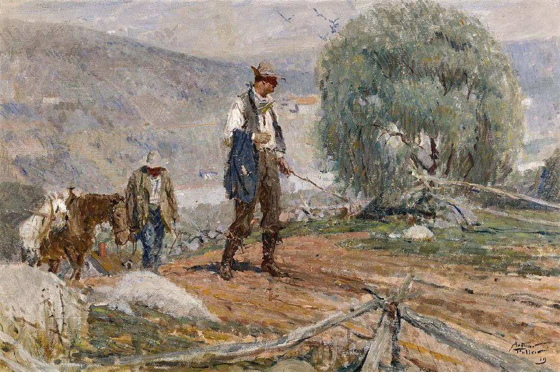 PAINTING BY ARTHUR DAVENPORT FULLER: Prospectors