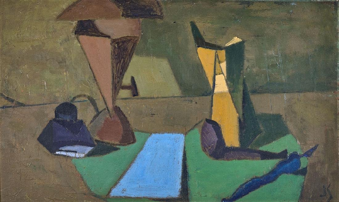 OIL PAINTING BY JOSEPH SOLMAN: Still Life