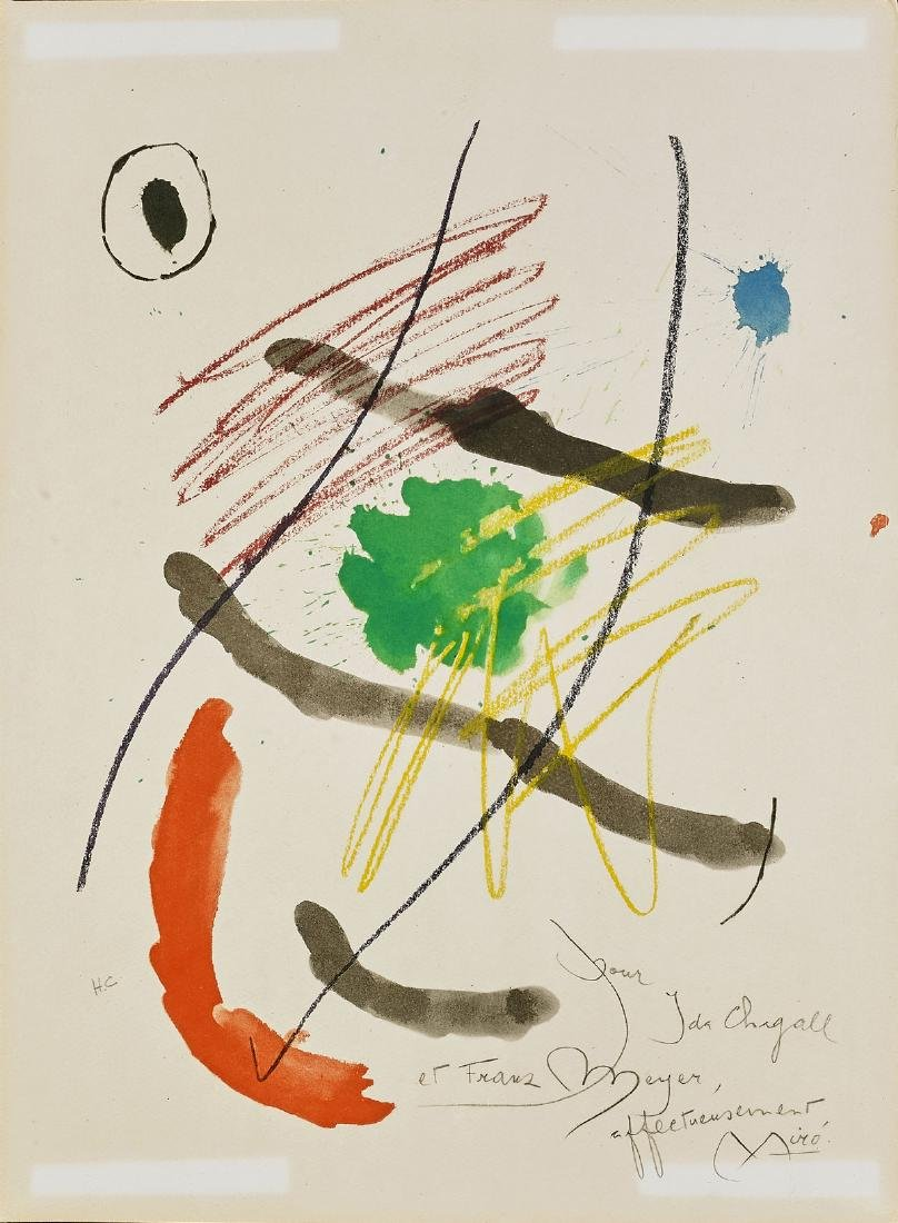 TWO LITHOGRAPHS AFTER JOAN MIRO