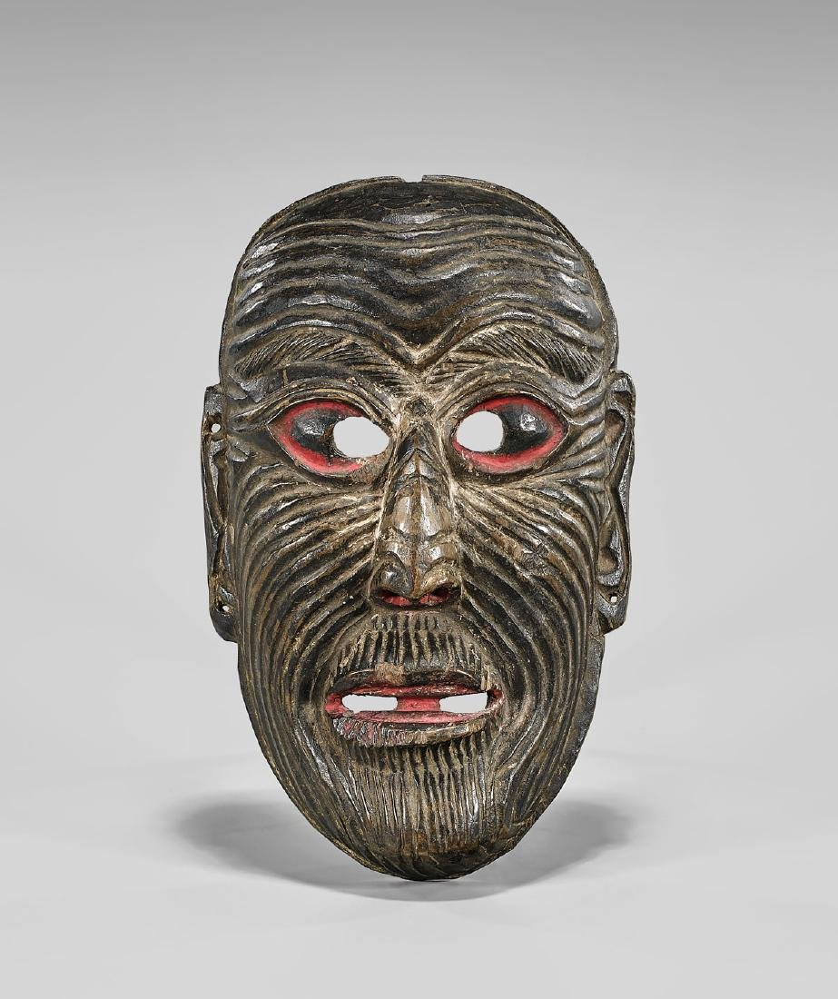 MONPA CARVED WOOD DANCE MASK