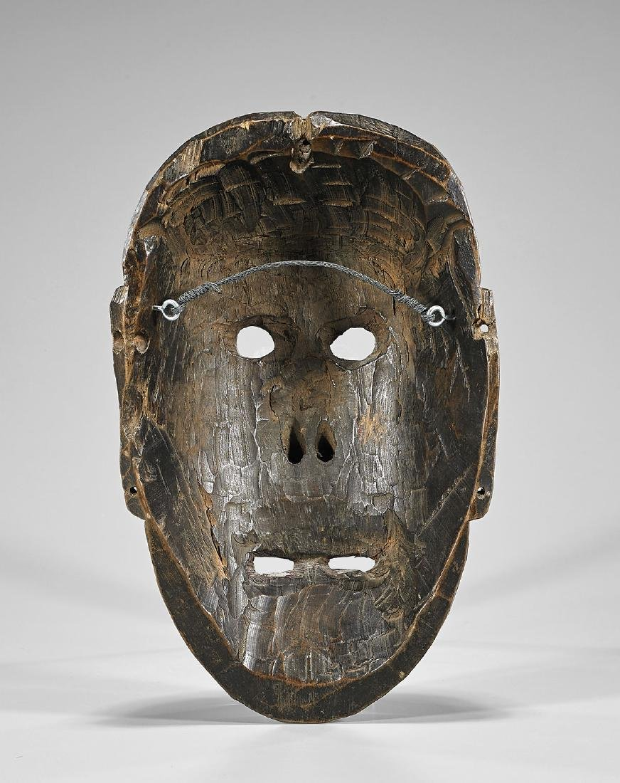 MONPA CARVED WOOD DANCE MASK - 2