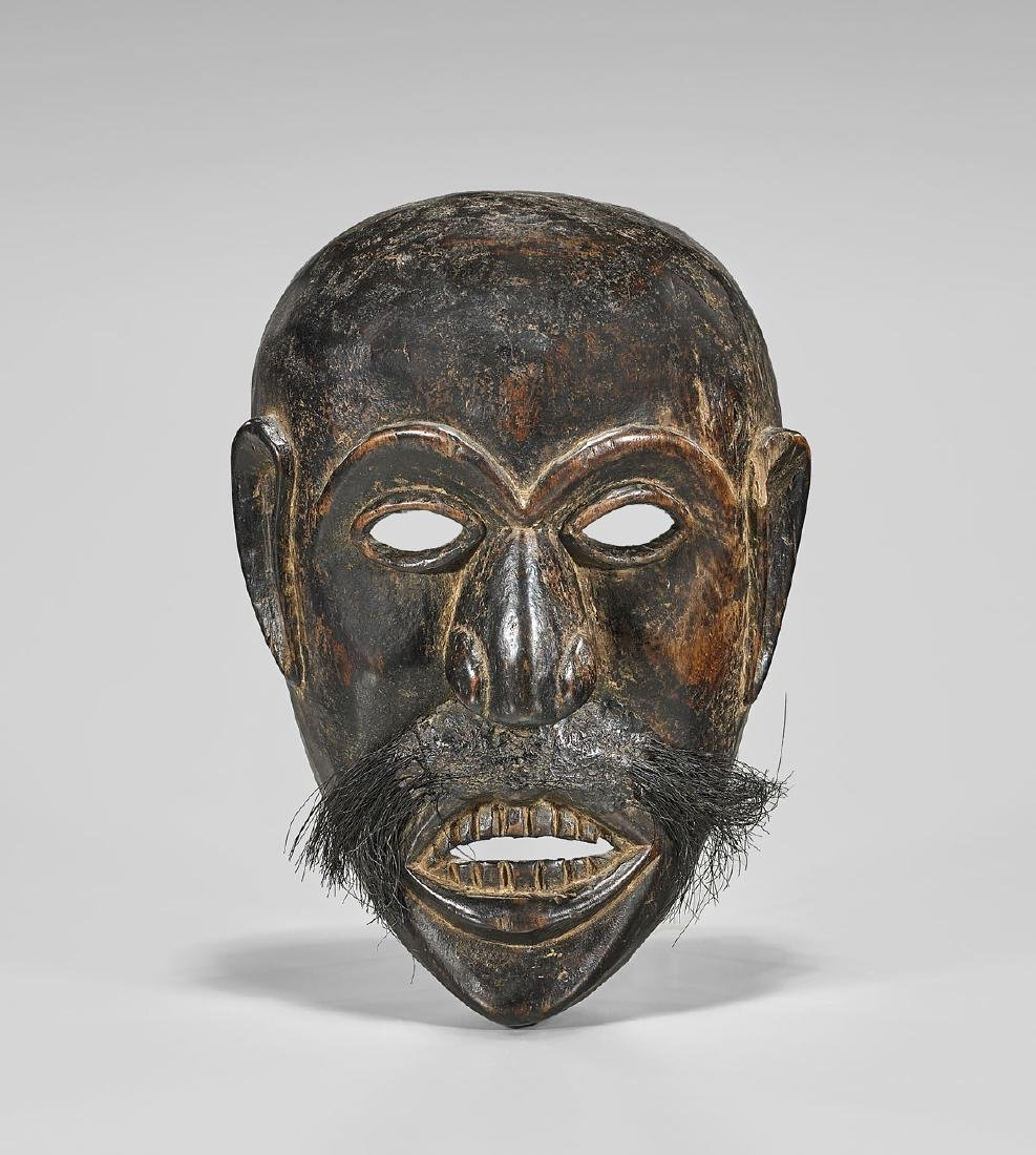 HIMALAYAN CARVED WOOD MASK