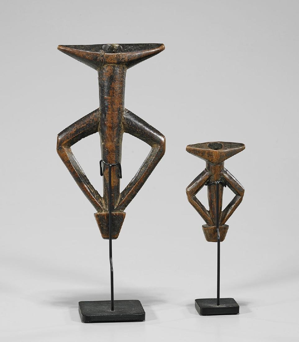 TWO MOSSI CARVED WOOD FLUTES - 2