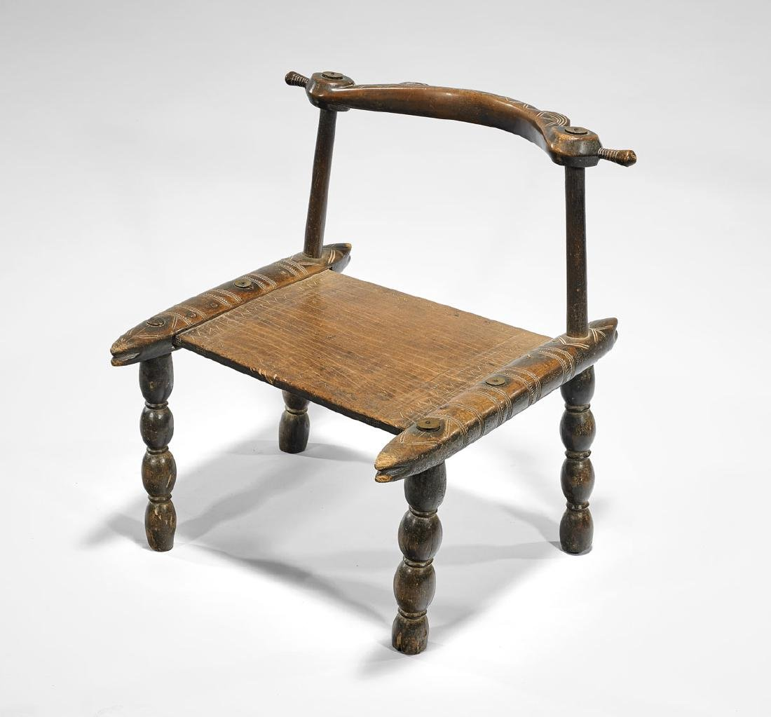 SENUFO CARVED WOOD CHAIR