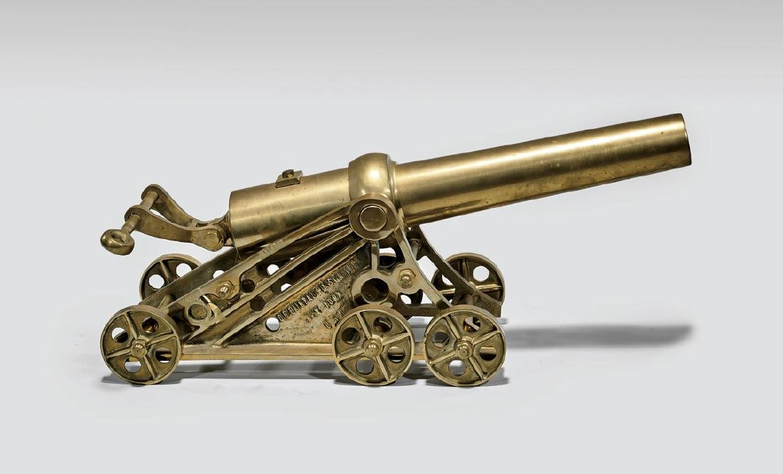 BRASS MODEL OF A 'LYLE' CANNON BY GALBRAITH & SON