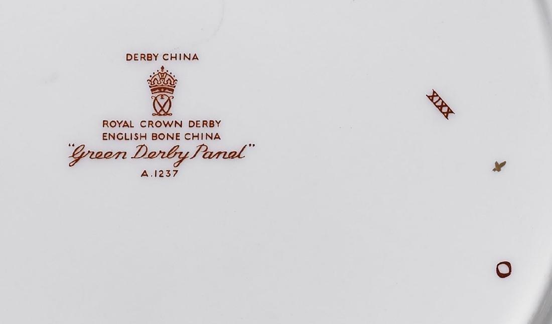 ROYAL CROWN DERBY 'GREEN DERBY PANEL' SERVICE - 2