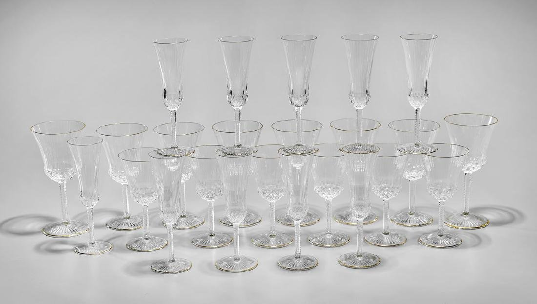 GROUP OF SAINT LOUIS 'APOLLO GOLD' GLASS STEMWARE