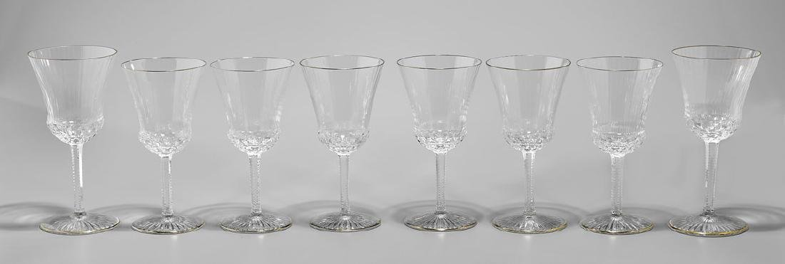 GROUP OF SAINT LOUIS 'APOLLO GOLD' GLASS STEMWARE - 2