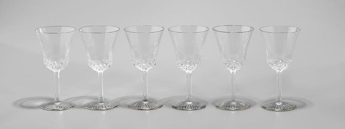 GROUP OF SAINT LOUIS 'APOLLO GOLD' GLASS STEMWARE - 3