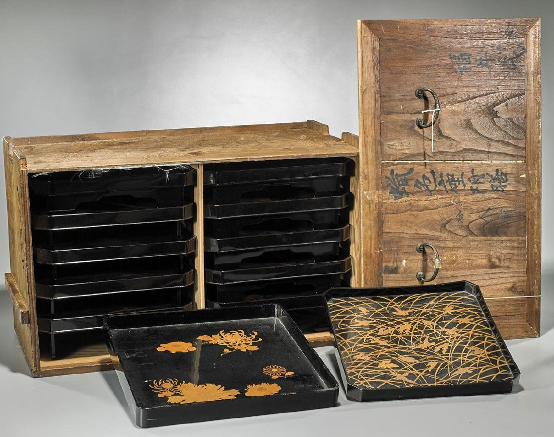 Group of Japanese Lacquerware
