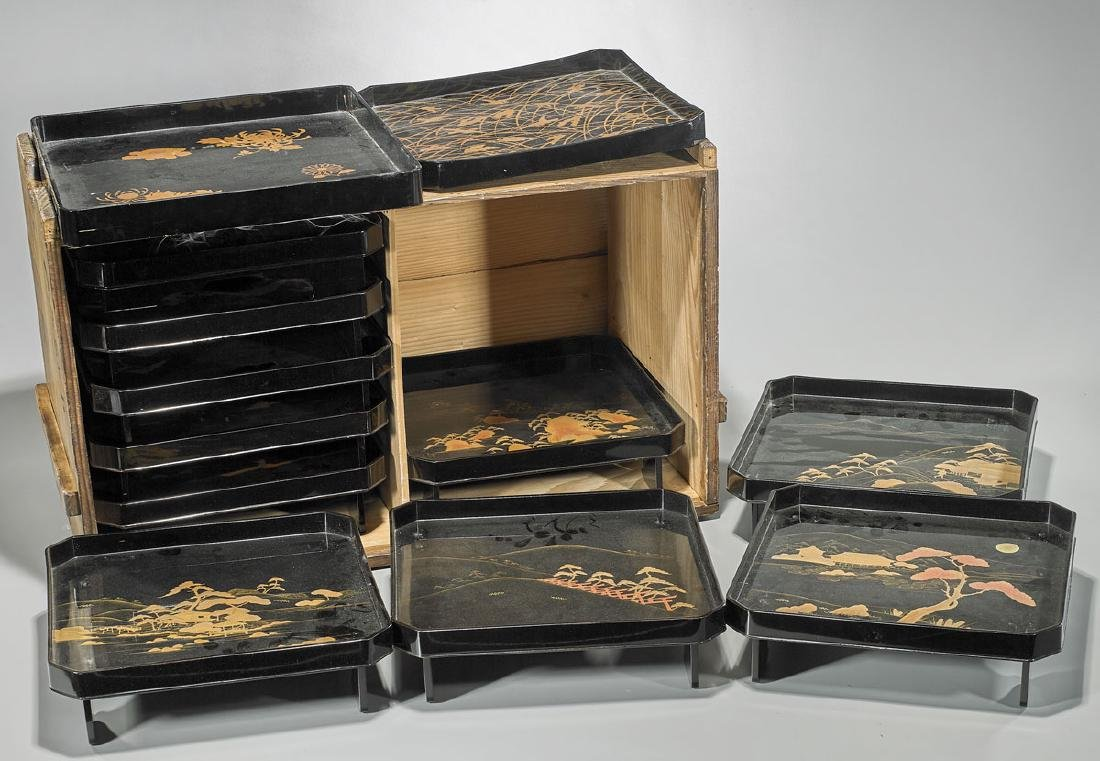 Group of Japanese Lacquerware - 2