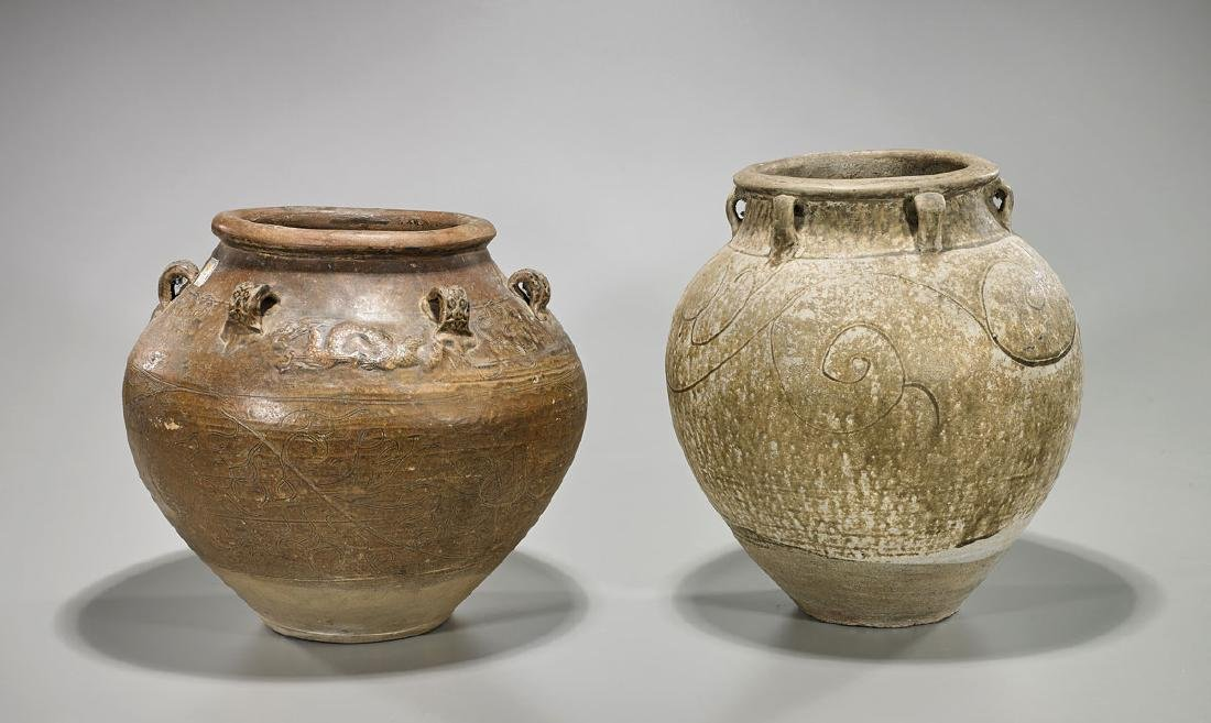Two Late Ming Dynasty Pottery Jars