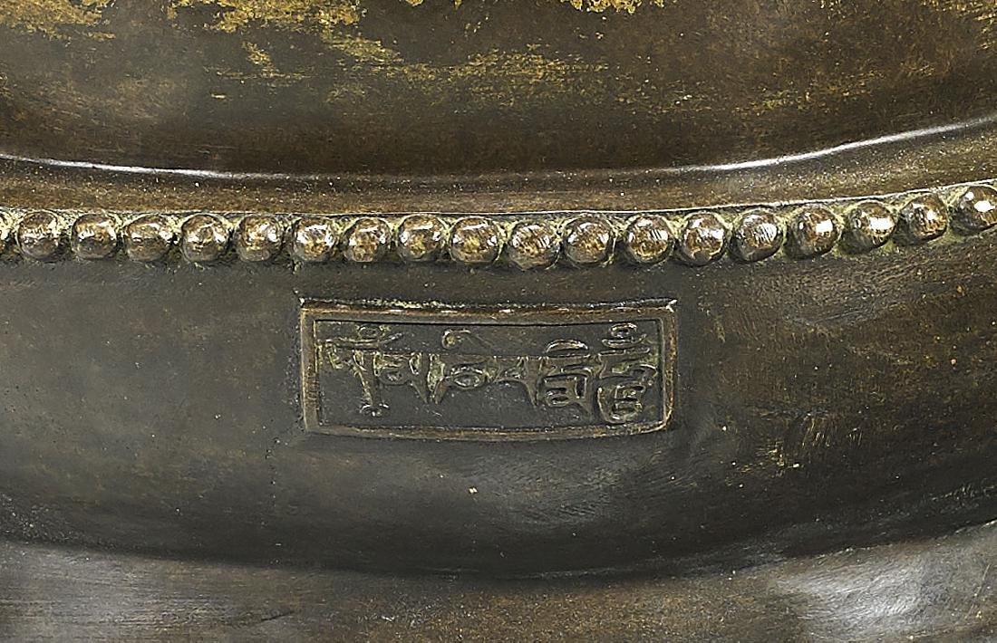Large & Elaborate Chinese Gilt Bronze Seated Deity - 3