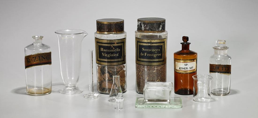 Group of Various Medical Beakers & Containers
