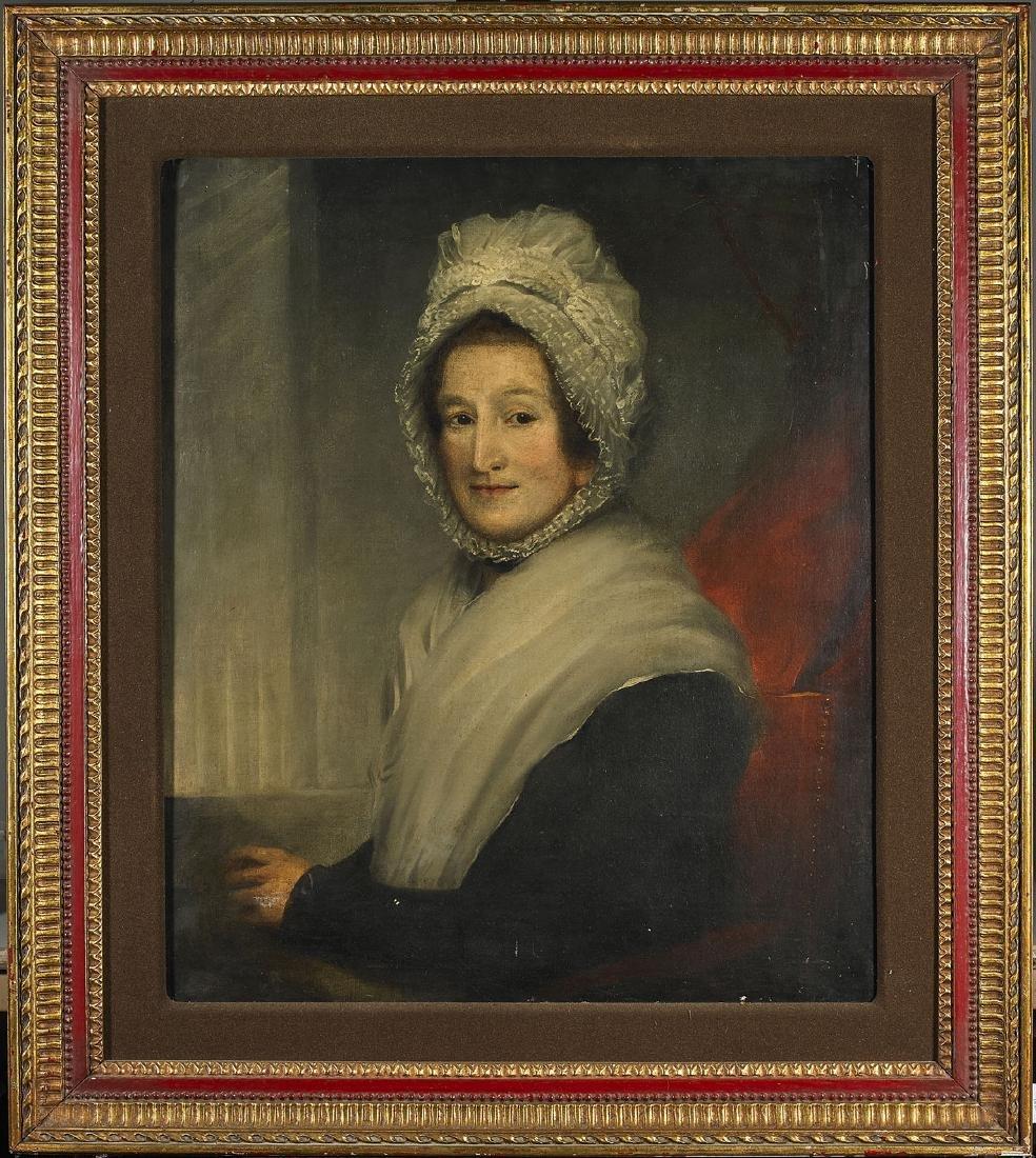 Antique Oil Portrait of a Woman