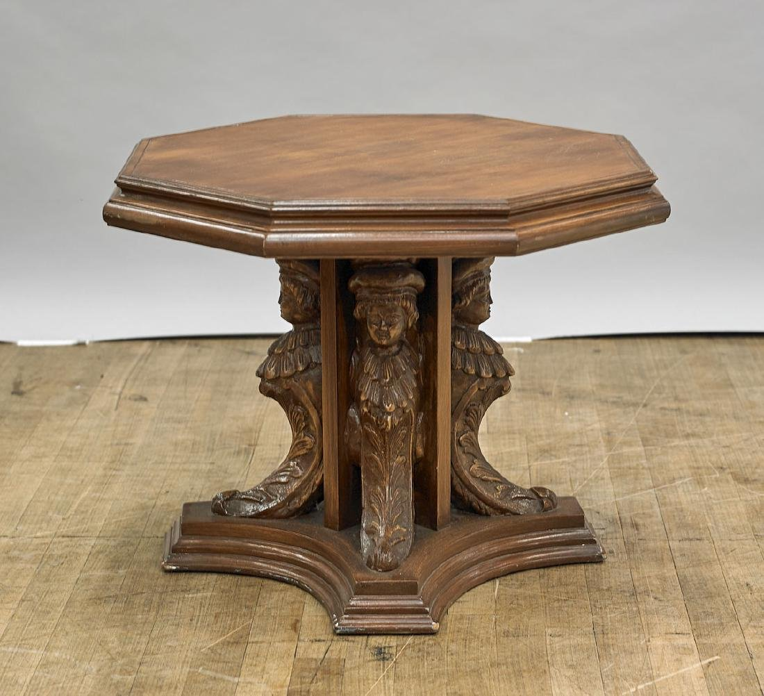 Carved Continental Wood Table